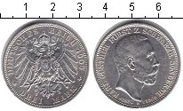 Изображение Монеты Шварцбург-Зондерхаузен 3 марки 1909 Серебро XF Карл Гюнтер