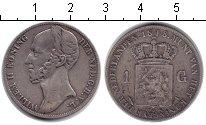 Изображение Монеты Нидерланды 1 гульден 1848 Серебро VF Вильгельм II