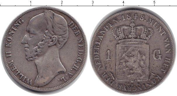 Картинка Монеты Нидерланды 1 гульден Серебро 1848