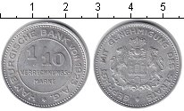 Изображение Монеты Гамбург 1/10 марки 1923 Алюминий UNC- Нотгельт