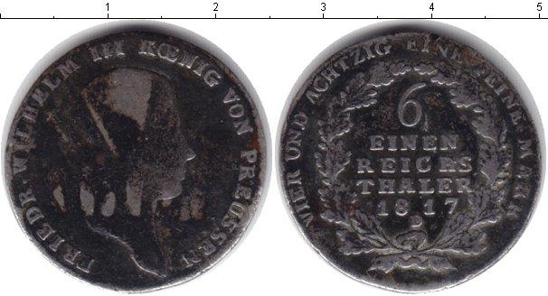 Картинка Монеты Пруссия 1/6 талера Серебро 1817