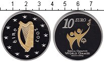 Изображение Монеты Ирландия 10 евро 2003 Серебро Proof-
