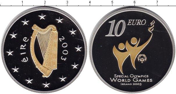 Картинка Монеты Ирландия 10 евро Серебро 2003