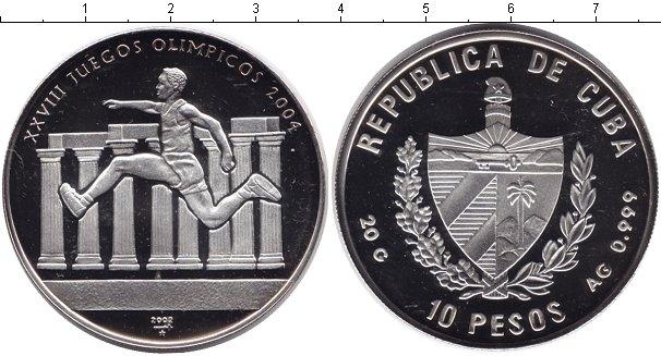 Картинка Монеты Куба 10 песо Серебро 2002