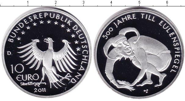 Картинка Монеты Германия 10 евро Серебро 2011