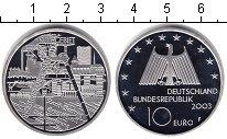 Изображение Монеты Германия 10 евро 2003 Серебро Proof- Рур промышленный рай