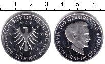 Изображение Монеты Германия 10 евро 2009 Серебро Proof- Графиня Марион Донхо