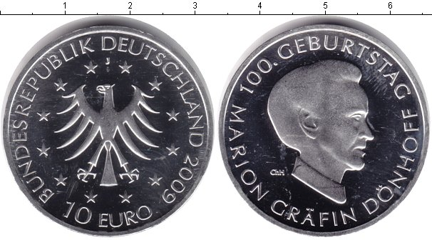 Картинка Монеты Германия 10 евро Серебро 2009