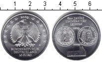 Изображение Монеты Германия 10 евро 2009 Серебро Proof- 600-летие университе