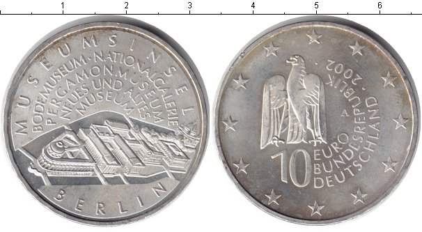 Картинка Монеты Германия 10 евро Серебро 2002