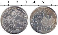 Изображение Монеты Германия 10 евро 2003 Серебро Proof- 50-летие 17 июня 195