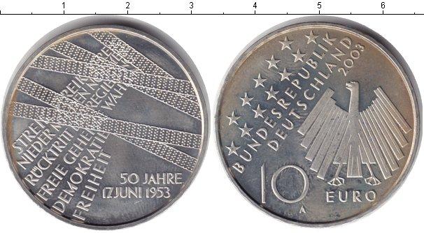 Картинка Монеты Германия 10 евро Серебро 2003