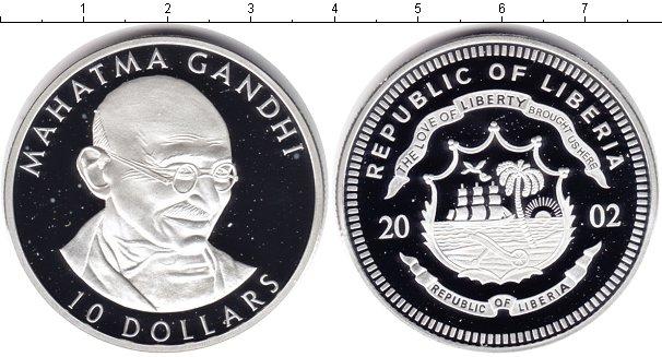 Картинка Монеты Либерия 10 долларов Серебро 2002