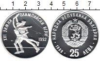 Изображение Монеты Болгария 25 лев 1989 Серебро UNC- Зимняя Олимпиада 199