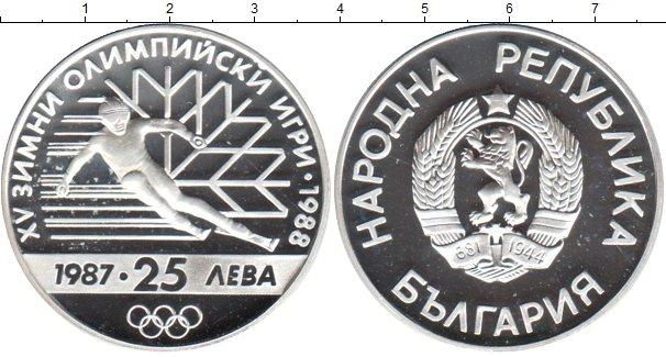 Картинка Монеты Болгария 25 лев Серебро 1987