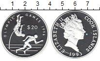 Изображение Монеты Острова Кука 20 долларов 1993 Серебро Proof- Елизавета II. Олимпи