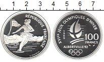 Изображение Монеты Франция 100 франков 1989 Серебро Proof- Олимпийские игры 199