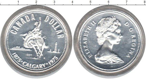 Картинка Монеты Канада 1 доллар Серебро 1975
