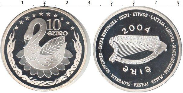 Картинка Монеты Ирландия 10 евро Серебро 2004