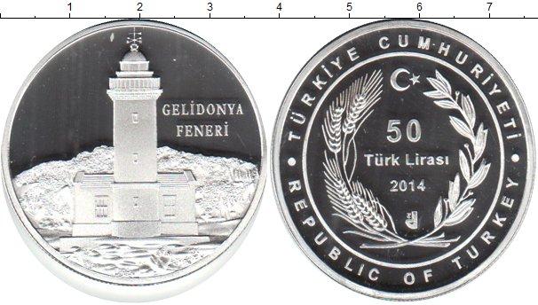 Картинка Монеты Турция 50 лир Серебро 2014