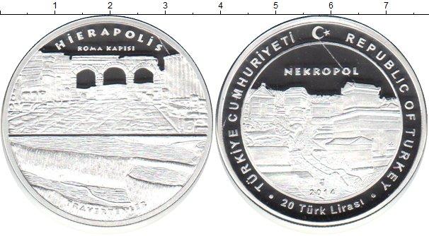 Картинка Монеты Турция 20 лир Серебро 2014