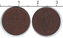 Изображение Монеты Финляндия 1 пенни 1909 Медь XF