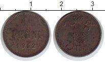 Изображение Монеты Финляндия 1 пенни 1912 Медь XF Николай II