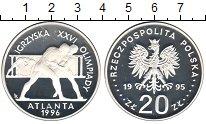 Изображение Монеты Польша 20 злотых 1995 Серебро Proof- XXVI Олимпиада Атлан