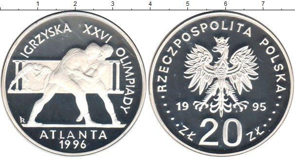 Картинка Монеты Польша 20 злотых Серебро 1995