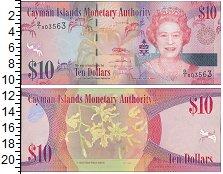 Изображение Боны Каймановы острова 10 долларов 0  UNC- Елизавета II.