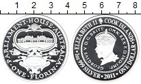 Изображение Монеты Австралия 1 доллар 2011 Серебро Proof- Георг V. Здание Парл