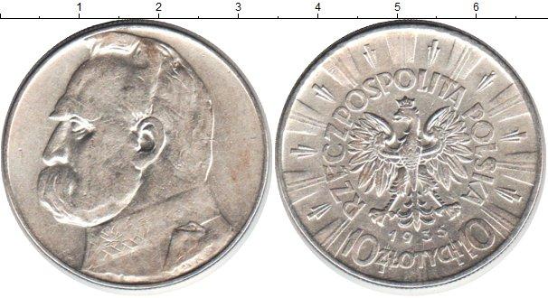 Картинка Монеты Польша 10 злотых Серебро 1935