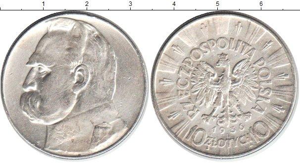 Картинка Монеты Польша 10 злотых Серебро 1936