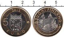 Изображение Мелочь Финляндия 5 евро 2015 Биметалл UNC- Рысь