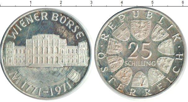 Картинка Монеты Австрия 25 шиллингов Серебро 1971