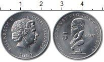 Изображение Монеты Острова Кука 5 центов 2000 Медно-никель UNC- Елизавета II. Идол