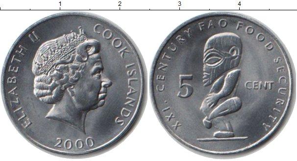 Картинка Монеты Острова Кука 5 центов Медно-никель 2000