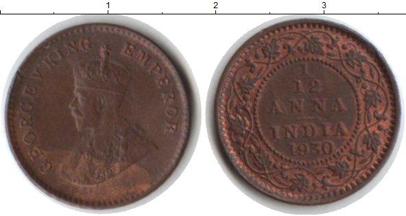 Картинка Монеты Индия 1/12 анны Медь 1930
