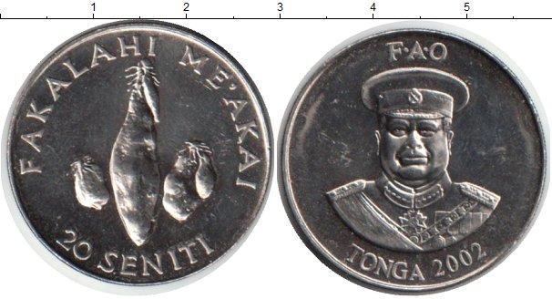 Картинка Монеты Тонга 20 сенити Медно-никель 2002
