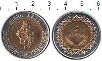 Изображение Мелочь Ливия 1/2 динара 1372 Биметалл XF
