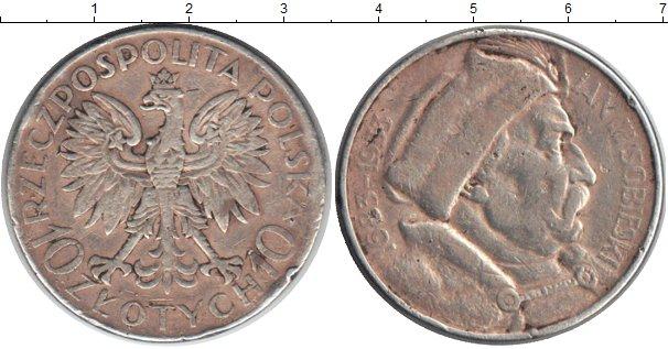 Картинка Монеты Польша 10 злотых Серебро 1933