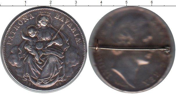 Картинка Монеты Бавария 1 талер Серебро 1869