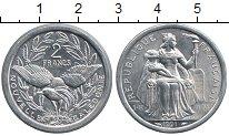 Изображение Монеты Новая Каледония 2 франка 1991 Алюминий XF