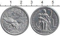 Изображение Монеты Новая Каледония 2 франка 1997 Алюминий XF