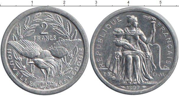 Картинка Монеты Новая Каледония 2 франка Алюминий 1997