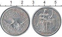 Изображение Монеты Новая Каледония 2 франка 1990 Алюминий XF
