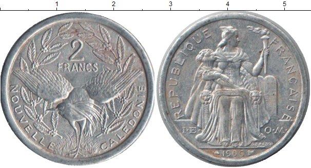 Картинка Монеты Новая Каледония 2 франка Алюминий 1990