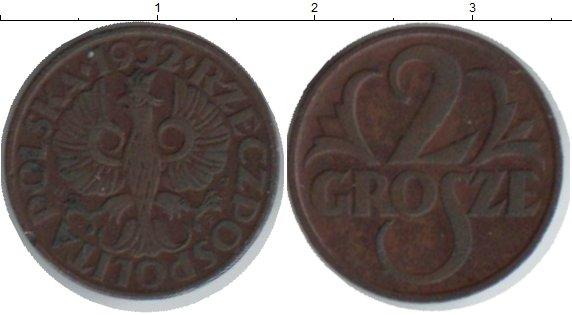 Картинка Монеты Польша 2 гроша  1932
