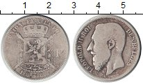 Изображение Монеты Бельгия 1 франк 1867 Серебро  Леопольд II