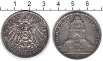 Изображение Монеты Саксония 3 марки 1913 Серебро XF 100 лет битвы при Ле